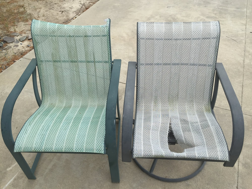 how to repair outdoor furniture